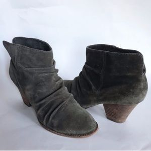 ANTHROPOLOGIE green ankle boots